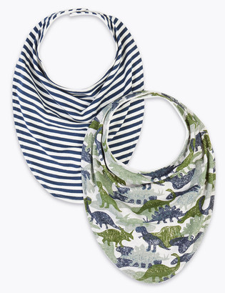 Marks and Spencer 2 Pack Adaptive Cotton Printed Bibs