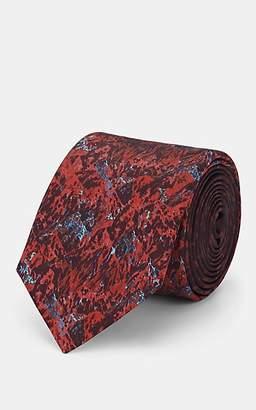 Lanvin Men's Abstract-Print Silk Necktie - Red
