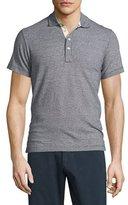 Billy Reid Smith Mini Dot-Print Short-Sleeve Polo Shirt, Navy
