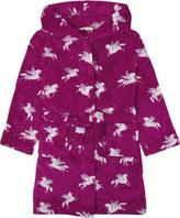 Hatley Unicorn print hooded fleece dressing gown 6-14 years