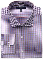 Tommy Hilfiger Men's Big and Tall Non Iron Tall Fit Check Spread Collar Dress Shirt