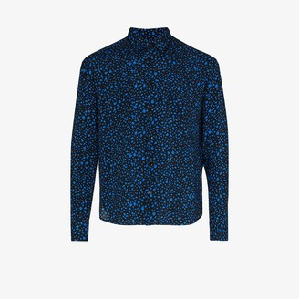 Saint Laurent Cropped Speckle Print Shirt