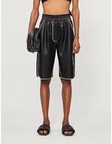 Nanushka Yolie high-rise faux-leather shorts