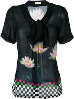 Wunderkind floral print blouse