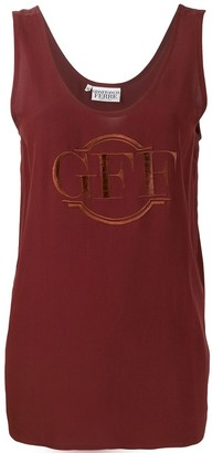 Gianfranco Ferré Pre Owned Logo Embroidered Tank Top
