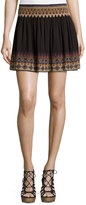Joie Lilith Embroidered Miniskirt