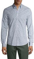 Ben Sherman Herringbone Long Sleeve Sportshirt