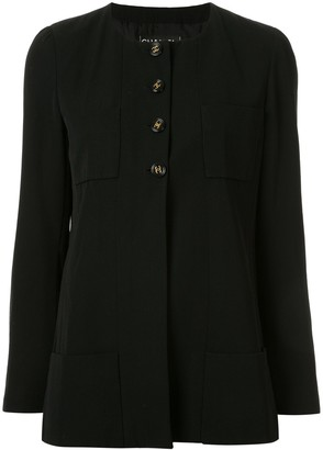 Chanel Pre Owned 1995 Collarless Slim-Fit Jacket