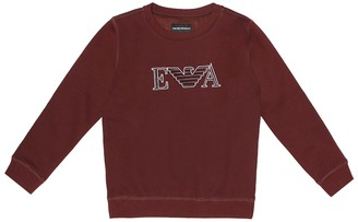 Emporio Armani Kids Embroidered logo sweater