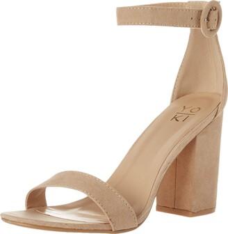 Yoki womens Friday Heeled Sandal