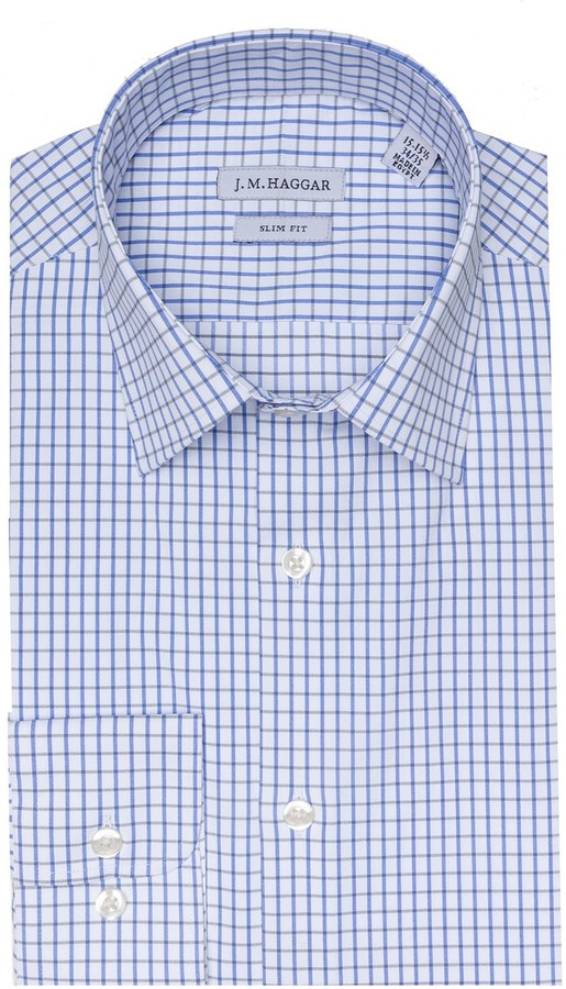Haggar Men's J.M. Premium Performance Slim-Fit Stretch Dress Shirt