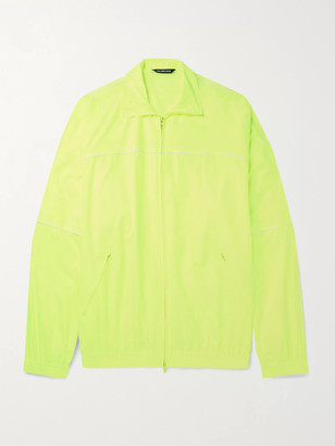 Balenciaga Oversized Piped Shell Track Jacket - Men - Yellow