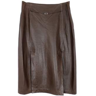 Mulberry Brown Leather Skirts