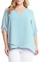 Karen Kane Popover Blouse (Plus Size)