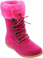 Jelly Beans Fuchsia Faux Fur Misty Boot