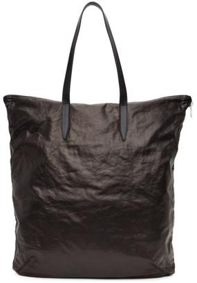 Dries Van Noten Black Faux-Leather Tote