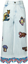 Peter Pilotto embroidered jeans - women - Cotton - 24