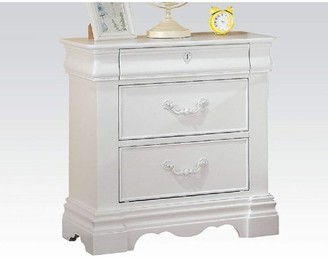 Simple Relax Nightstand, White, One Size