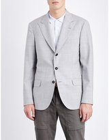 Brunello Cucinelli Check-print Wool Jacket