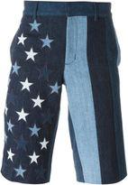 Givenchy star patch denim shorts - men - Cotton/Polyester - 30