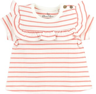 Oliver & Rain Sea Star Ruffle Organic Cotton T-Shirt