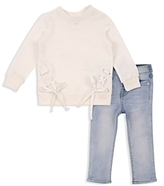 7 For All Mankind Girls' Lace Up Top & Skinny Jeans Set - Baby