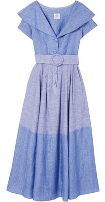 Gül Hürgel Linen And Cotton-blend Midi Dress