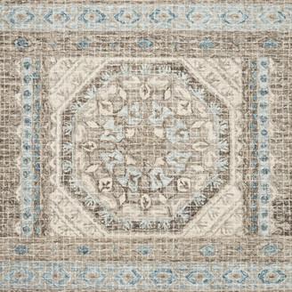 "Loloi Rugs 100% Wool Stone / Blue Tatum Hooked Area Rug by Loloi, 5'0""x7'6"""