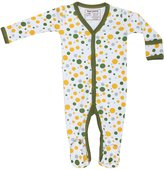 Maple Clothing Organic Cotton Baby Clothes Footie GOTS Certified (Black Stripes, 6-12m)