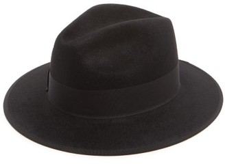 Gucci Ribbon-trimmed Fedora - Black