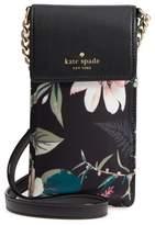 Kate Spade Botanical Print Leather Phone Crossbody Bag