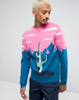 Asos Sweater with Cactus in Mountains