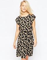 Brave Soul Midi Skater Dress In Daisy Print
