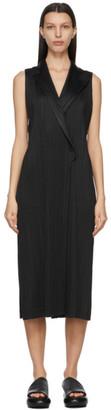 Pleats Please Issey Miyake Black Light Mannish Long Dress