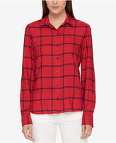 Tommy Hilfiger Checked Button-Front Shirt, Created for Macy's