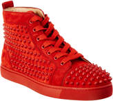 Christian Louboutin Louis Spike Suede High Top Sneaker