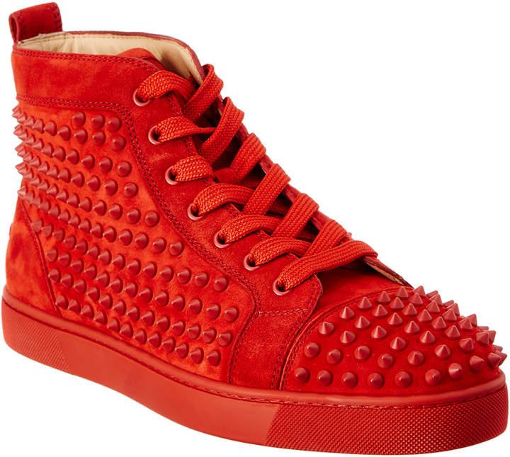 Christian Louboutin Louis Spike Suede High Top Sneaker