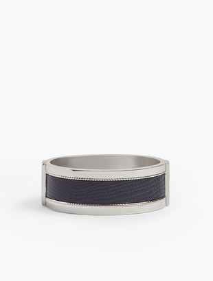 Talbots Croc Embossed Silver Bangle