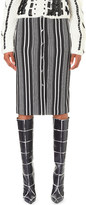 Altuzarra Balthazar striped stretch-crepe skirt