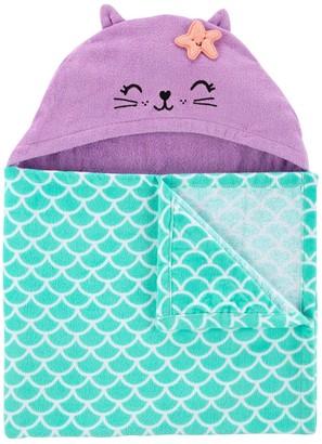 Carter's Baby Girl Mermaid Hooded Towel