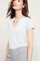 Dynamite Soft Ruffled T-Shirt