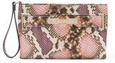 JLO by Jennifer Lopez Lola Snakeskin Textured Wristlet