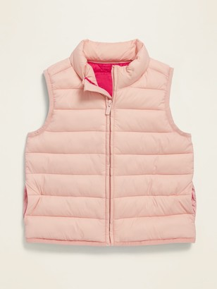 Old Navy Pink Packable Narrow-Channel Puffer Vest for Toddler Girls