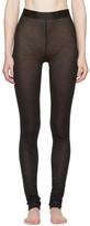 Ann Demeulemeester Black Jersey Leggings