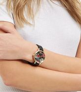 New Look Black Floral Print Face Silicone Strap Watch