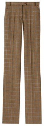 Burberry Wool Check Trousers