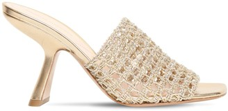 Nicholas Kirkwood 90mm Metallic Macrame Sandals