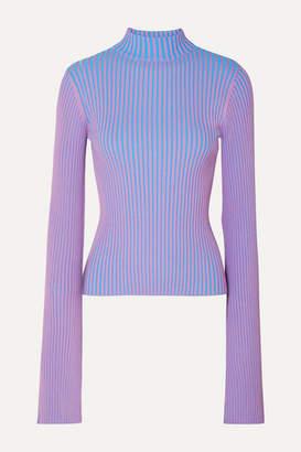 SOLACE London Dania Ribbed-knit Sweater - Purple