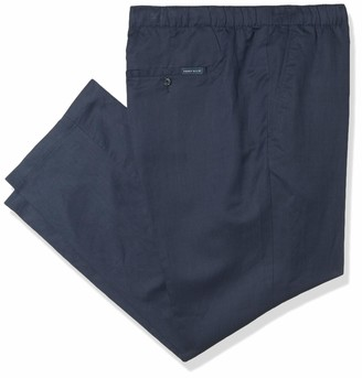Perry Ellis Men's Big & Tall Stretch Linen Blend Drawstring Pant