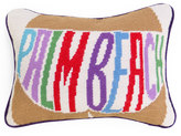 Jonathan Adler Palm Beach Needlepoint Throw Pillow